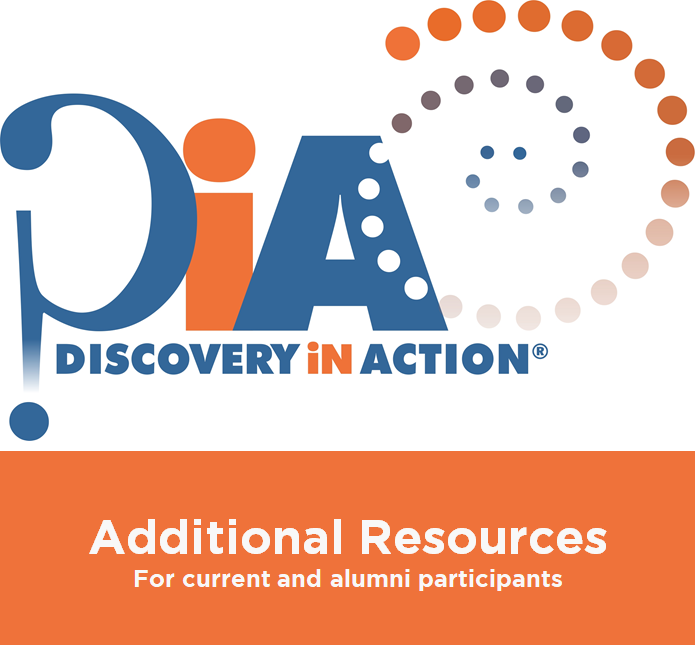Additional Resources for Current and Alumni DiA Participants